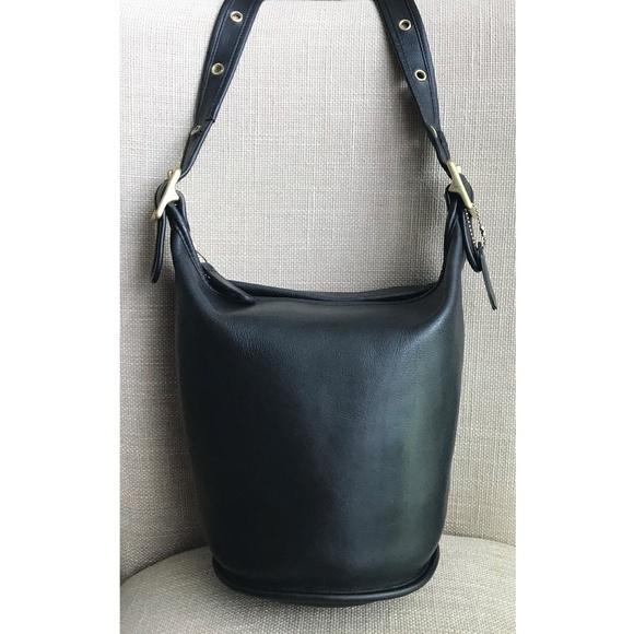 Coach Handbags - COACH Vintage Bucket 9953 Crossbody Black Leather